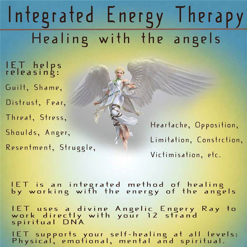 A Poster by Mary Queeney of Healing Earth in Galway about the Services offered regarding Integrated Energy Therapy
