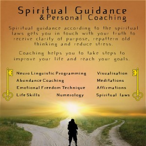 A Poster outlining the services offered by Mary Queeney of Healing Earth in Galway regarding Spiritual Guidance